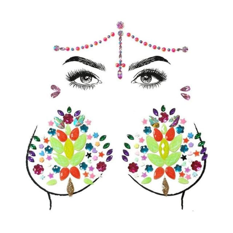Face and Body Jewelry Stickers - 17
