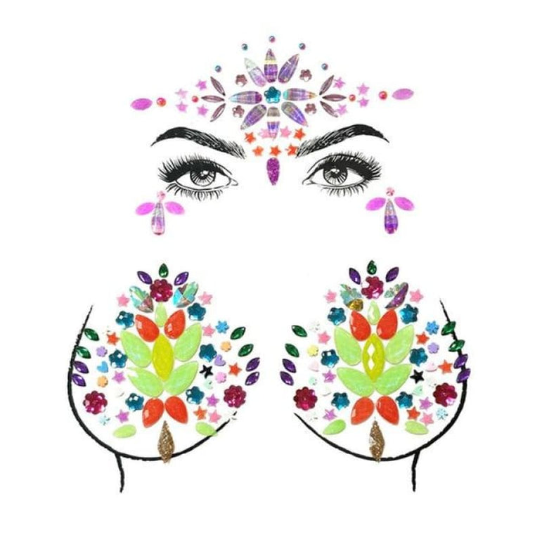 Face and Body Jewelry Stickers - 18