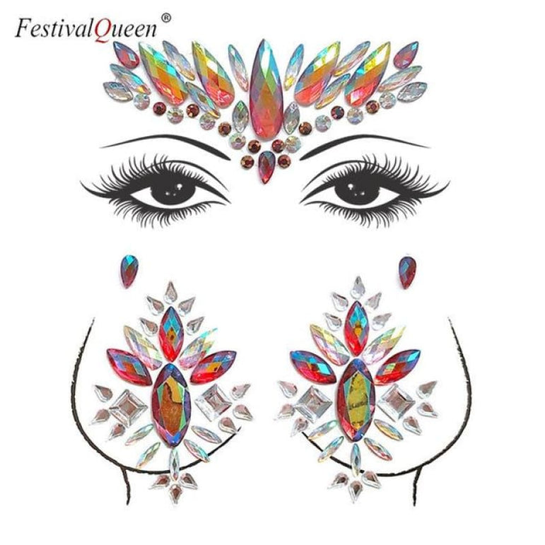 Face and Body Jewelry Stickers - 2