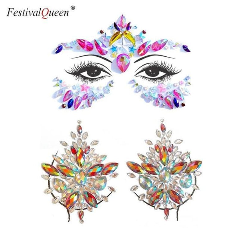 Face and Body Jewelry Stickers - 3