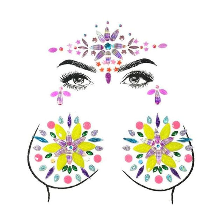 Face and Body Jewelry Stickers - 4