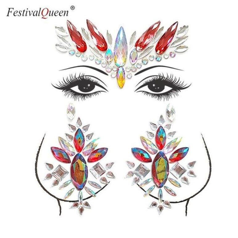 Face and Body Jewelry Stickers - 5