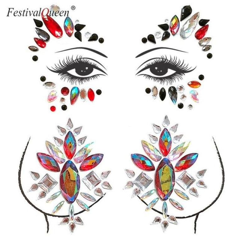 Face and Body Jewelry Stickers - 6