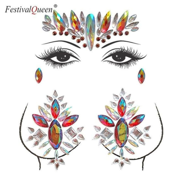 Face and Body Jewelry Stickers - 7