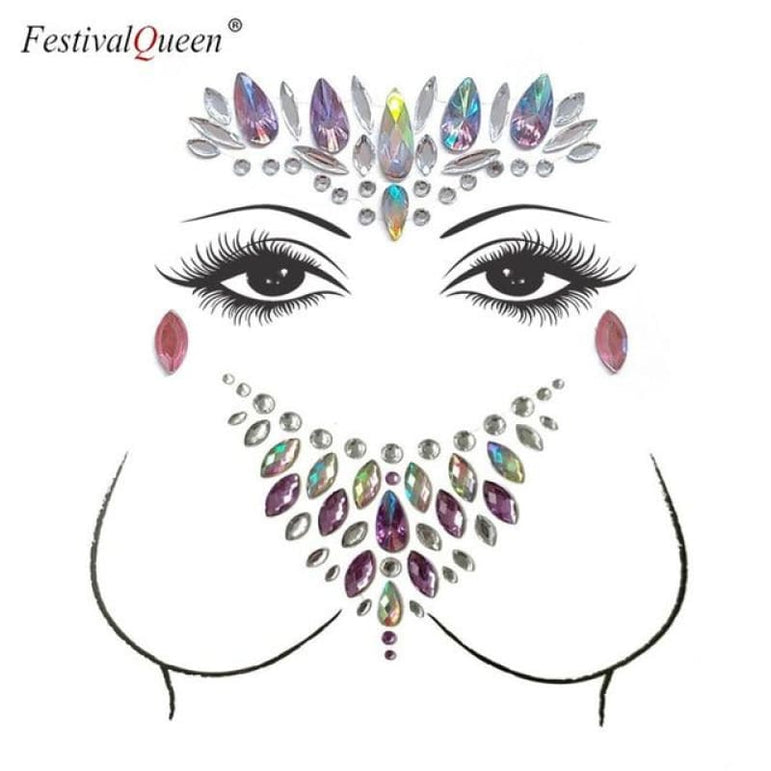 Face and Body Jewelry Stickers - 8