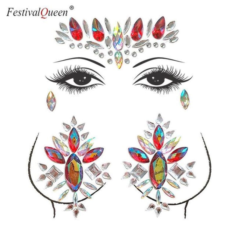 Face and Body Jewelry Stickers - 9