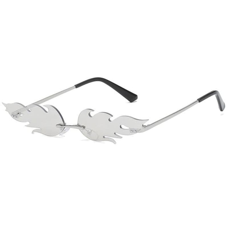 Fire Flame Sunglasses - silver