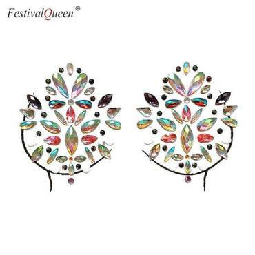 Glitter Tattoo Rhinestone Breast Stickers . - BLX01