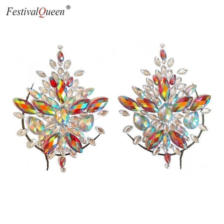 Glitter Tattoo Rhinestone Breast Stickers . - XBS huaxinghong