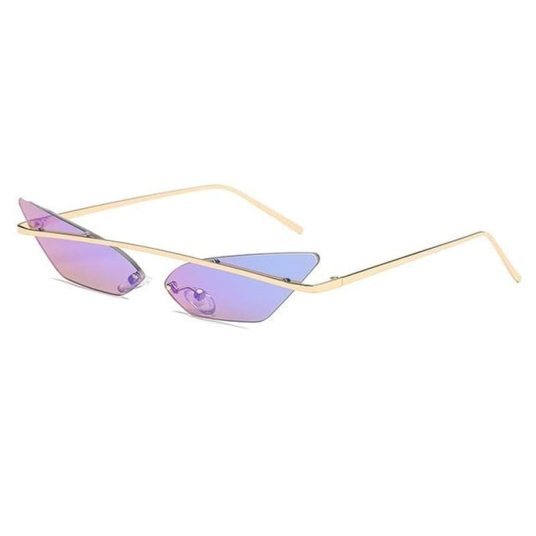 Luxury Cat Eye Sunglasses - green mirror
