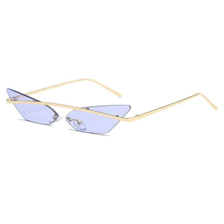 Luxury Cat Eye Sunglasses - light purple
