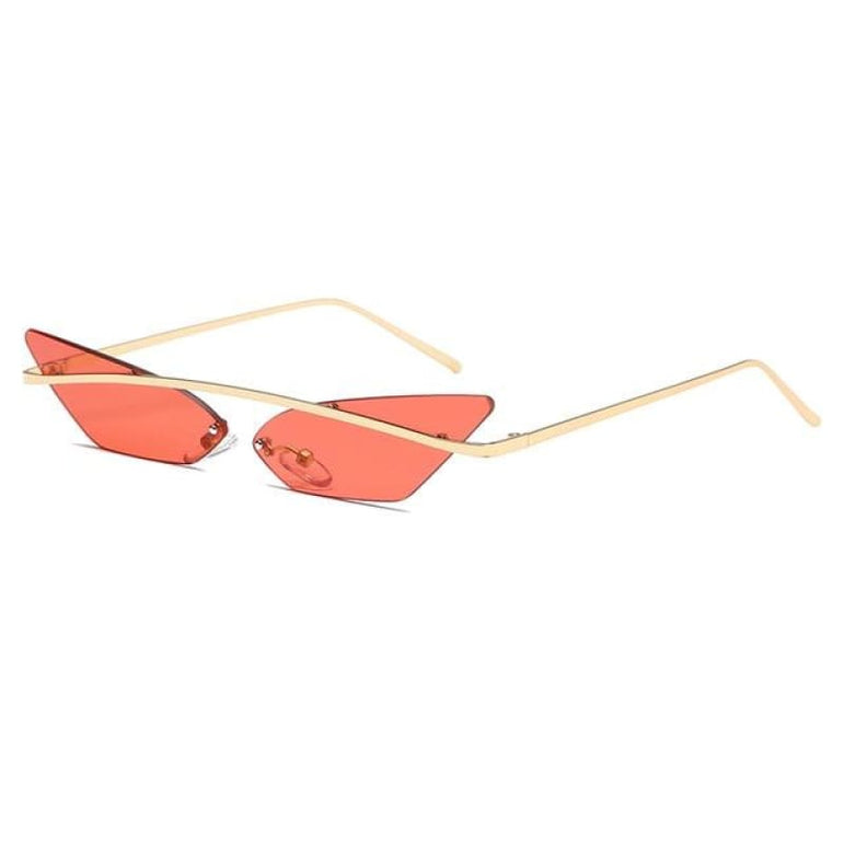 Luxury Cat Eye Sunglasses - red lens
