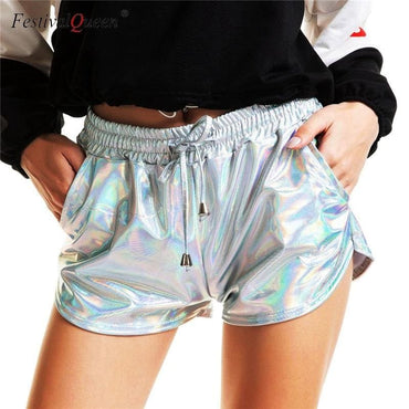 Metallic Yoga Shorts