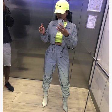 Reflective Tracksuit 2 Piece Set