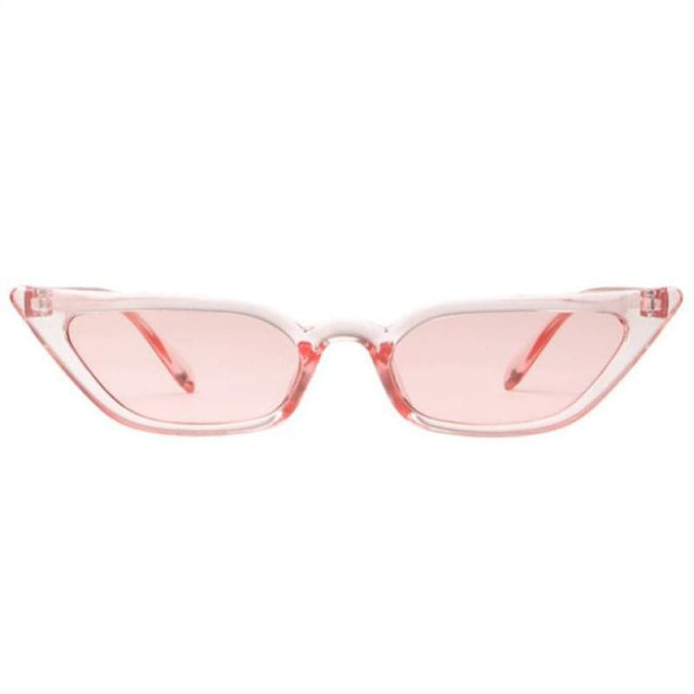 Retro Cat Eye Sunglasses - clear pink / as picture