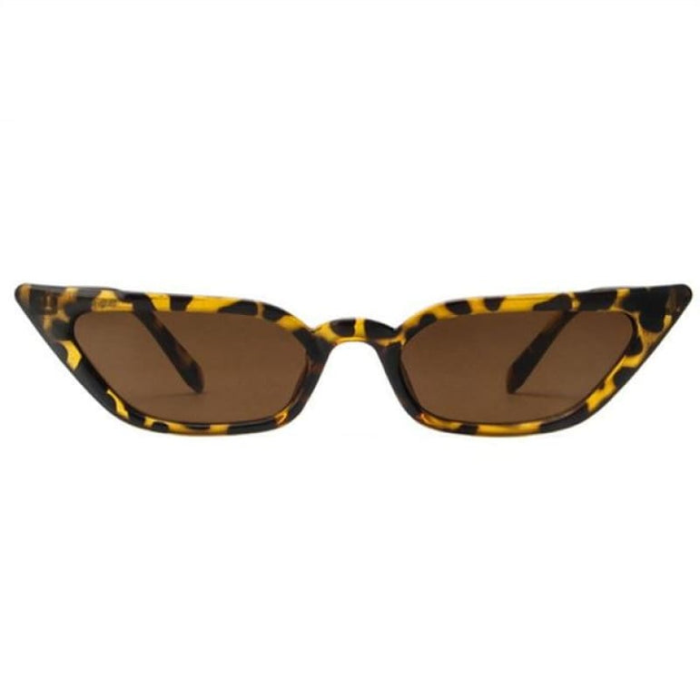 Retro Cat Eye Sunglasses - leopard / as picture