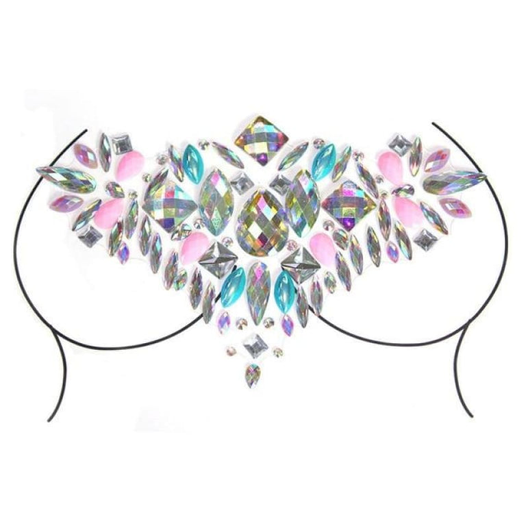 Rhinestone Face Stickers and Festival Body Stickers - 11