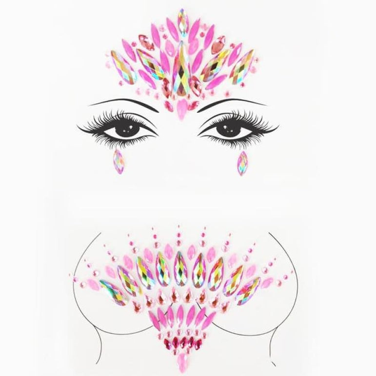 Rhinestone Face Stickers and Festival Body Stickers - 15