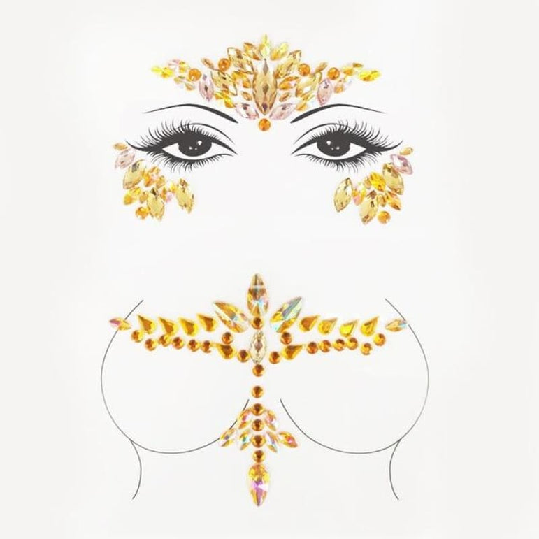Rhinestone Face Stickers and Festival Body Stickers - 16