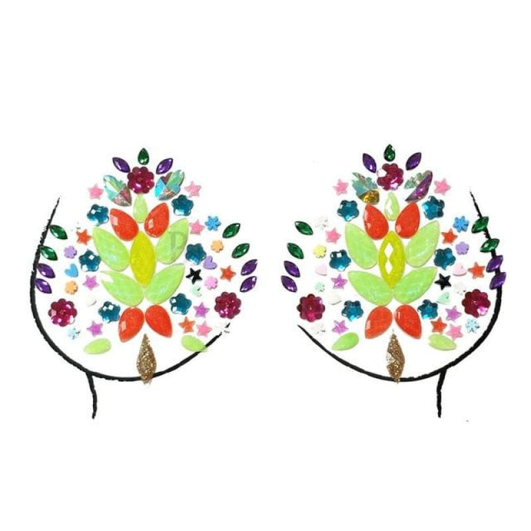 Rhinestone Face Stickers and Festival Body Stickers - 2