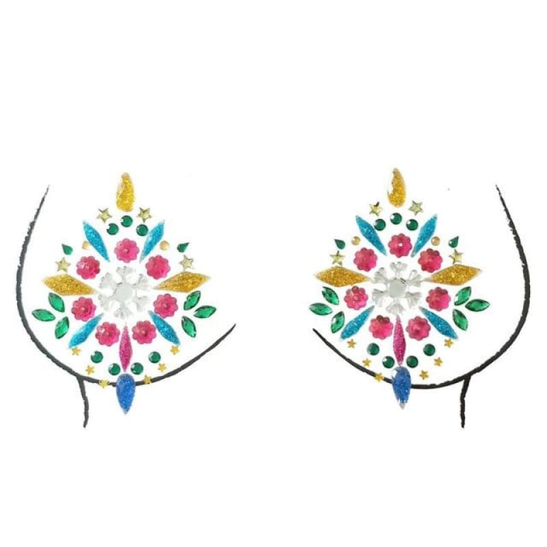 Rhinestone Face Stickers and Festival Body Stickers - 8