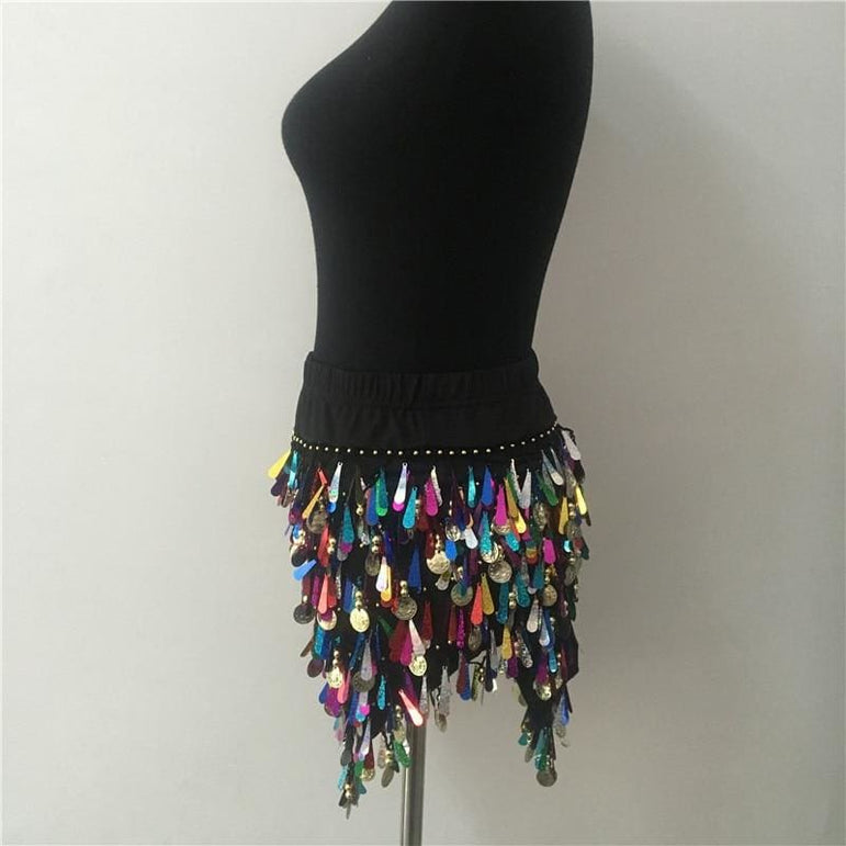 Sequins Tassel Mini Skirt
