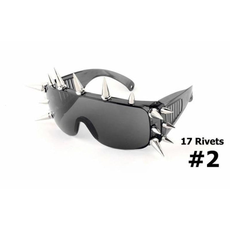 SteamPunk Spike Sunglasses - 17 Rivets 2