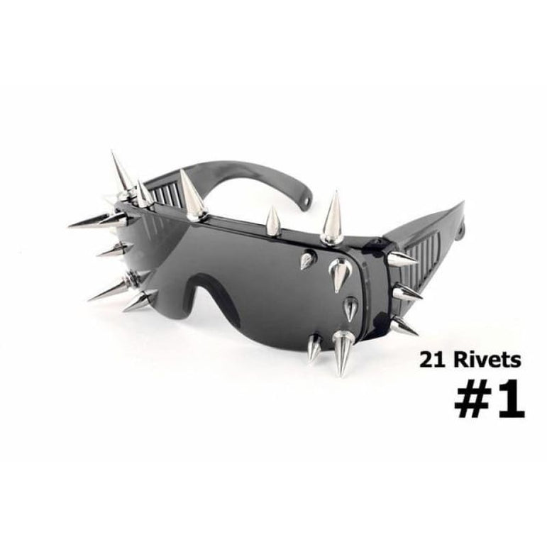 SteamPunk Spike Sunglasses - 21 Rivets 1