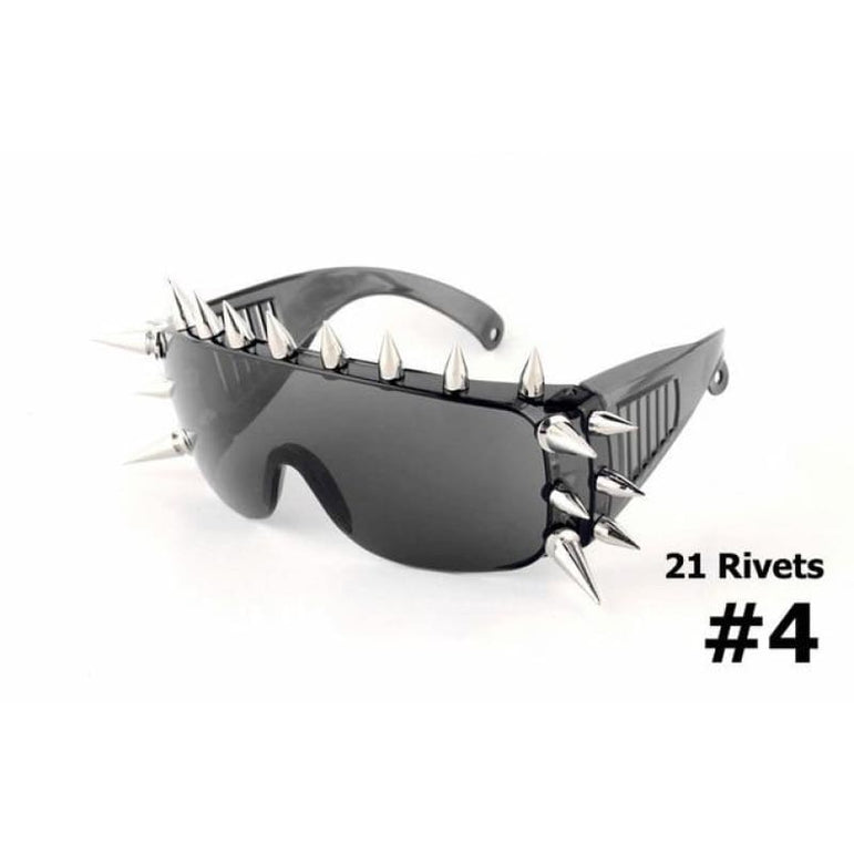 SteamPunk Spike Sunglasses - 21 Rivets 4