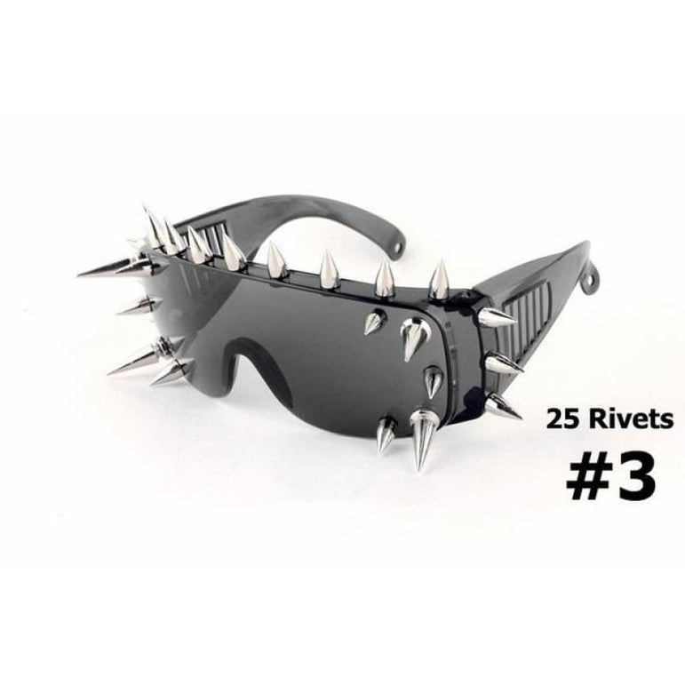 SteamPunk Spike Sunglasses - 25 Rivets 3