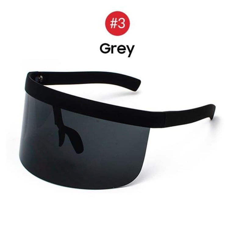 Visor Sunglasses - Futuristic Face Shield - 3 Grey
