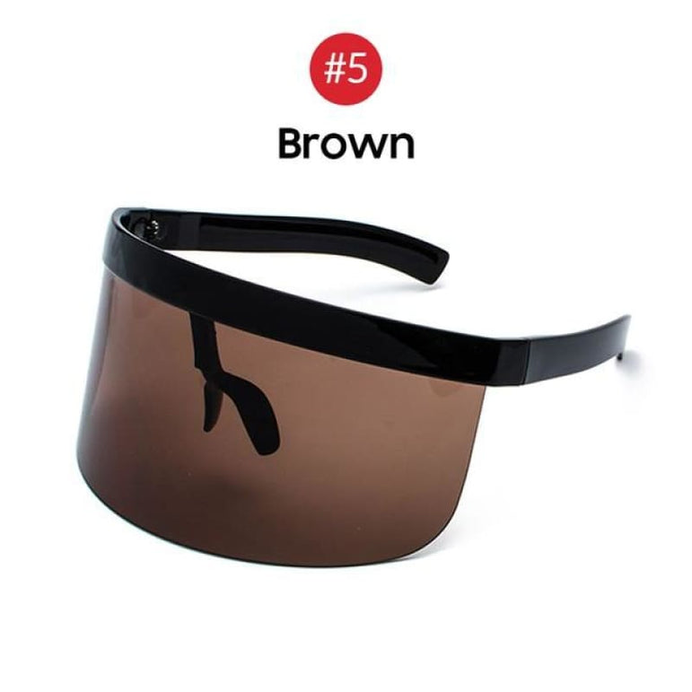 Visor Sunglasses - Futuristic Face Shield - 5 Brown