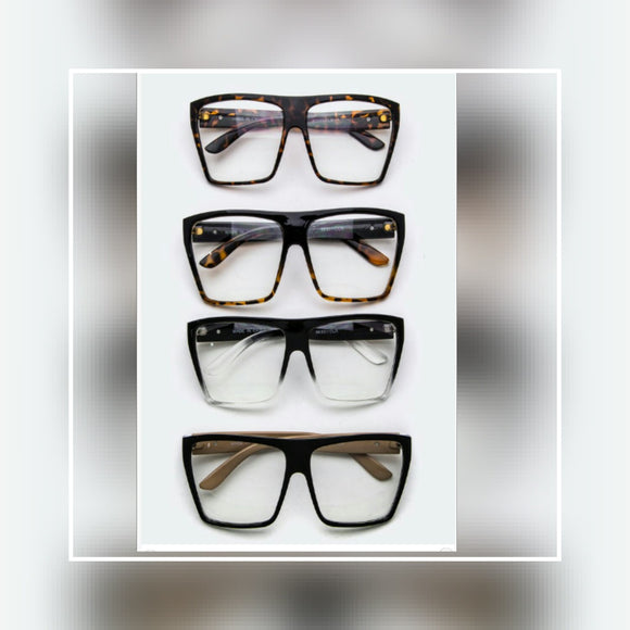 ACCESSORIES - Oversized  Square  Optical  Glasses