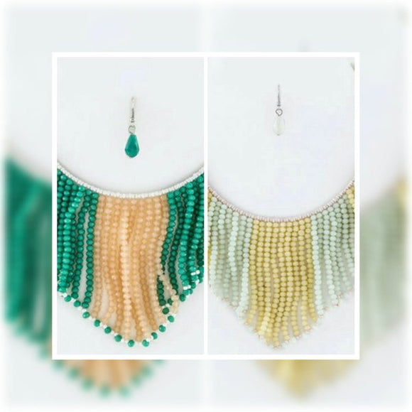 JEWELRY - String  Beads  Collar  Necklace  Set