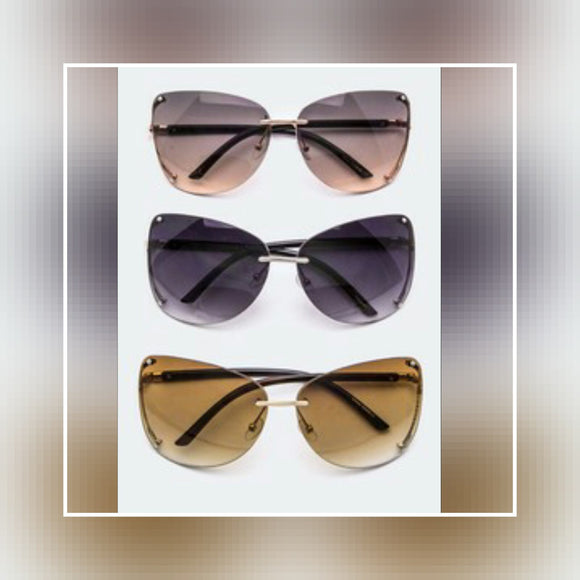ACCESSORIES - Oversized  Non Framed Sunglasses
