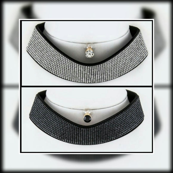 JEWELRY - Crystal Sheet Choker Necklace Set