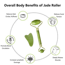 Load image into Gallery viewer, 2 piece Jade Roller and Gua Sha Set