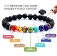 7 Chakra Valconic Stretch Beaded Diffuser Bracelet