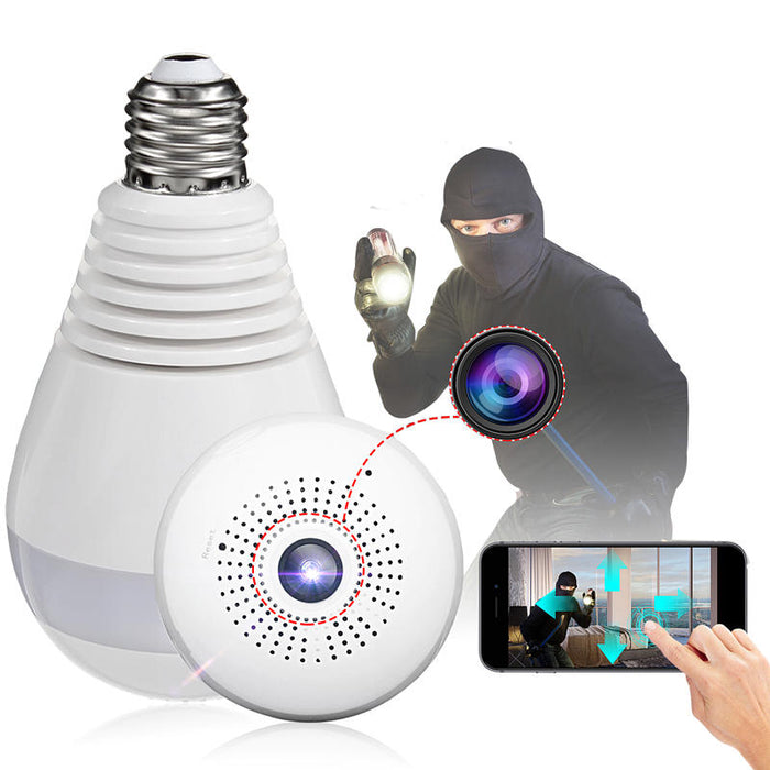Wifi Panorama Camera Security Lamp