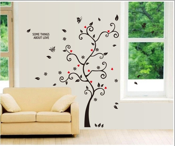 DIY Family Photo Frame Tree Wall Decals