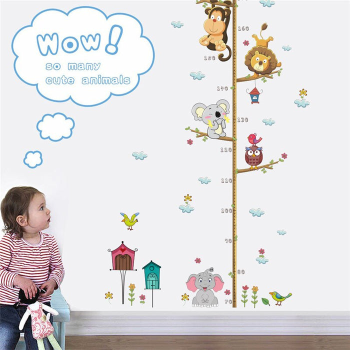 Animals Height Measure Wall Sticker