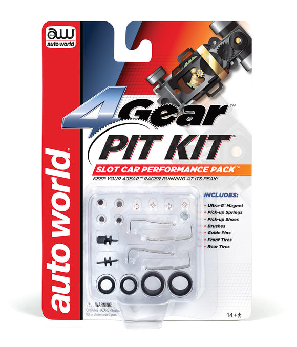 4Gear Pit Kit | 00230 | Auto World-Toys & Hobbies:Slot Cars:HO Scale:1970-Now-ProTinkerToys.com