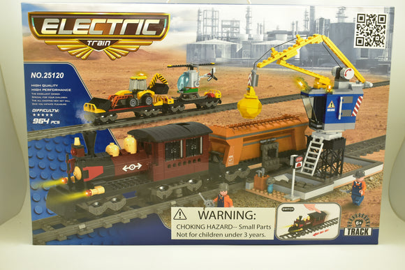 Steam Locomotive 3 Freight Car Train Set w/ Crane & Accessories - Railroad Conveyance Trains Electric Deluxe-Toys & Hobbies:Building Toys:LEGO Building Toys:LEGO Complete Sets & Packs-ProTinkerToys.com