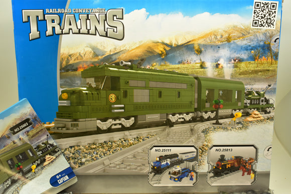 Military Train Set - Railroad Conveyance Trains-IMEX/AUSINI-ProTinkerToys