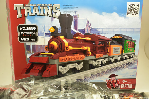 Steam Passenger Locomotive Train - Railroad Conveyance Trains-Toys & Hobbies:Building Toys:LEGO Building Toys:LEGO Complete Sets & Packs-ProTinkerToys.com