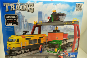 Yellow City Cargo Freight Station - Railroad Conveyance Trains-Toys & Hobbies:Building Toys:LEGO Building Toys:LEGO Complete Sets & Packs-ProTinkerToys.com
