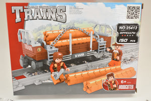 City Log Flat Car - Railroad Conveyance Trains-Toys & Hobbies:Building Toys:LEGO Building Toys:LEGO Complete Sets & Packs-ProTinkerToys.com