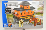 Orange Caboose w/ Accessories - Railroad Conveyance Trains-Toys & Hobbies:Building Toys:LEGO Building Toys:LEGO Complete Sets & Packs-ProTinkerToys.com