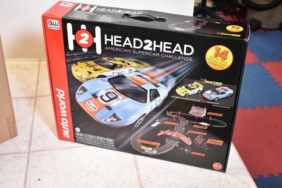 Auto World 14' Head to Head American Supercar Challenge HO Scale | Auto World-ProTinkerToys.com-ProTinkerToys