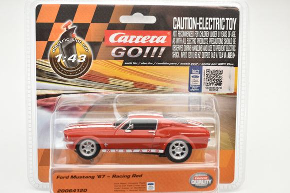 Ford Mustang '67 – Racing Red | 20064120 | Carrera Go-Toys & Hobbies:Slot Cars:1/43 Scale:1970-Now-ProTinkerToys.com